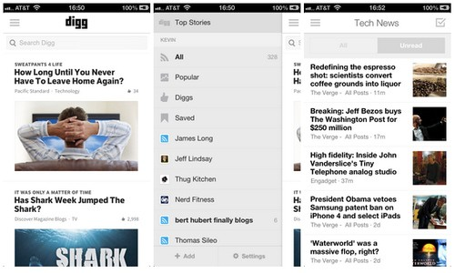 Digg iOS app and Reader get upgrades
