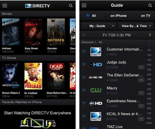DirecTV for iPhone reaches version 30, touts redesigned look and improved navigation
