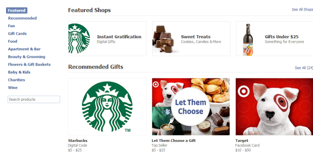 Facebook kills physical Gifts in favor of ecodes, pokes sigh in relief