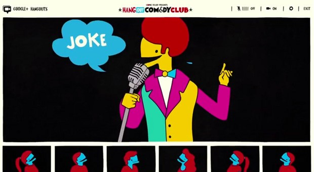 Google's Hangout Comedy Club will measure your laughs for a good cause video