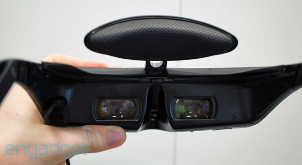 Sony's new HMZT3 headmounted display gets 'wireless' option, improved display and audio handson