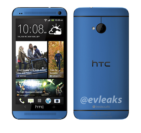 HTC One shows up in blue