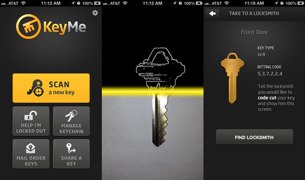 DNP KeyMe for iOS photographs your keys and stores them in the cloud