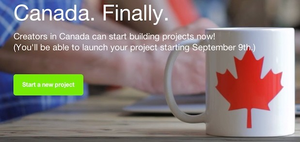 Kickstarter opens to Canadians, projects launch to public on September 9th