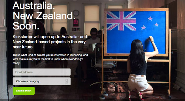 Kickstarter coming to Australia and New Zealand soon