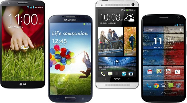 LG G2 vs the competition flagship Android smartphones square off