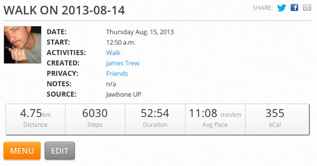 MapMyFitness increases Jawbone UP integration, adds Nike Fuelband support