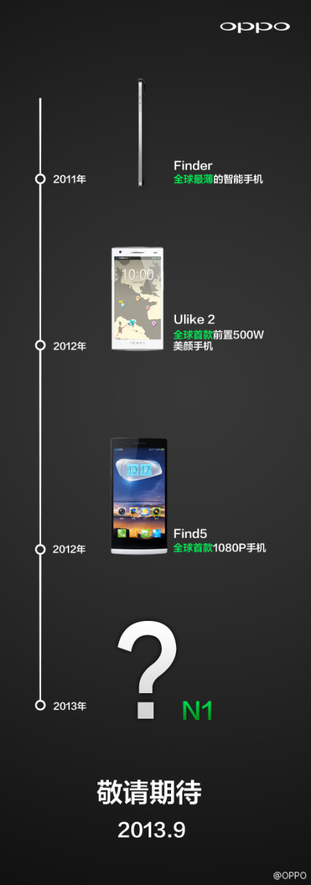 Oppo teases N1 smartphone with September launch, backside touch
