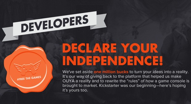 OUYA Free The Games Fund now live, offers $1 million toward crowdfunded titles