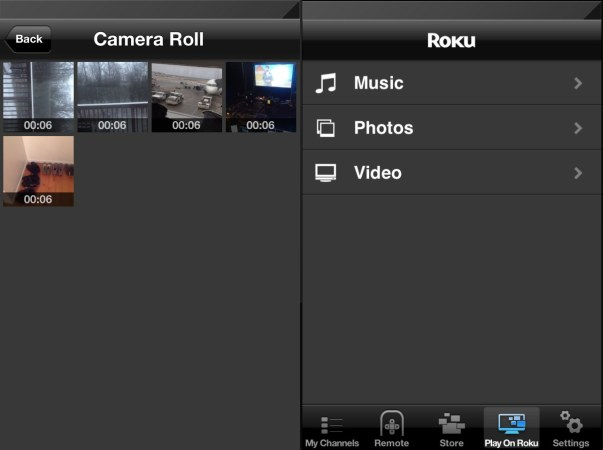 Roku's iOS app updated with user video streaming