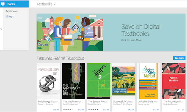 Google Play Books textbooks