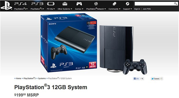 12GB PlayStation 3 sneaks into Sony's online store for $199