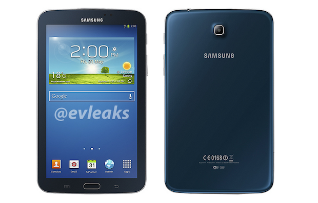 Blue Samsung Galaxy Tab 3 70 revealed in leaked press render