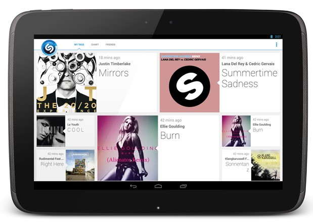 Shazam 40 for Android brings a redesigned interface with tablet support