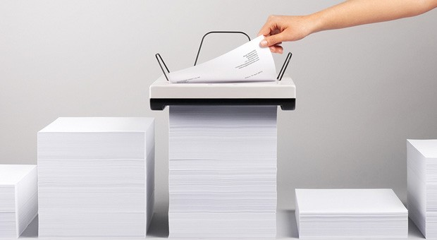 Stack printer concept ditches the tray, eats columns of paper