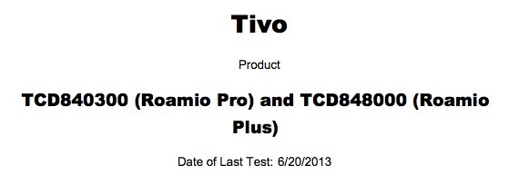 TiVo Series 5 'Roamio Pro' and 'Roamio Plus' DVRs pop up in FCC filings