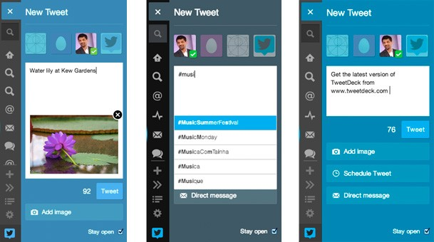 TweetDeck for web and Chrome gets New Tweet panel with image previews, as-you-type suggestions