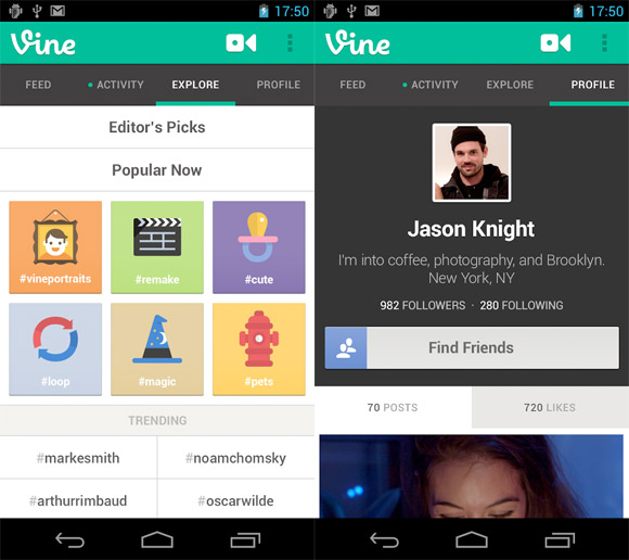 Vine now lets you use your Android phone's existing video clips