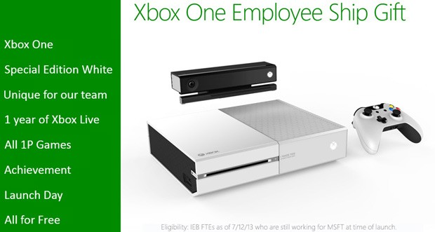 Some Microsoft employees rumored to receive free white Xbox One, make us jealous