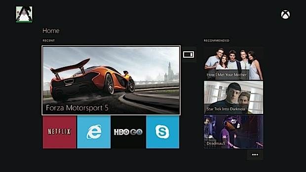 Xbox One user interface what to expect