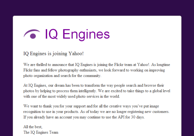 DNP Yahoo buys image recognition startup IQ Engines