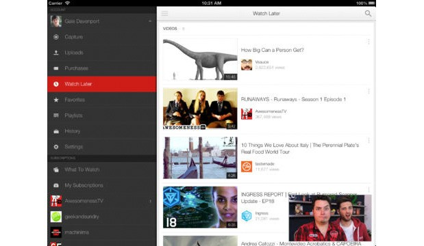 YouTube 20 for iOS arrives with multitasking and playlist searching