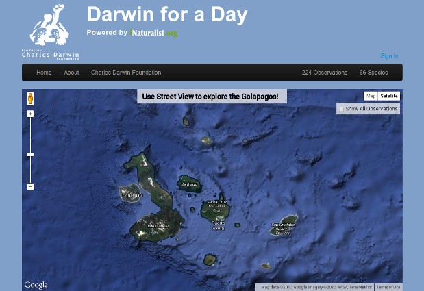 Darwin for a Day lets you play scientist, explore the Galapagos through Street View