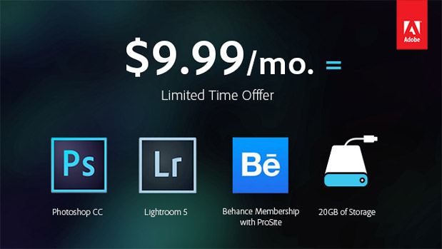 DNP Adobe to offer $999month Creative Cloud subscription as part of its Photography Program