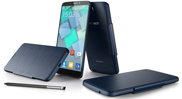 Alcatel unveils 6inch One Touch Hero with optional E Ink and LED covers