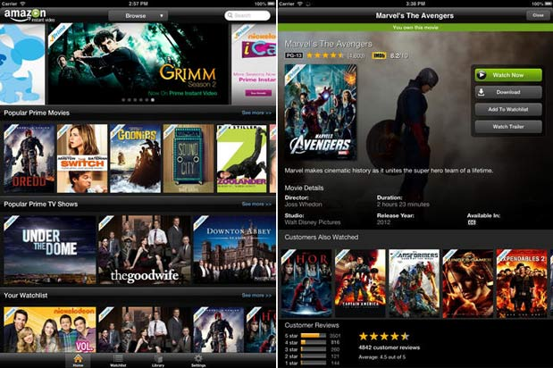 Amazon's Instant Video apps for iOS improve AirPlay support, let users multitask