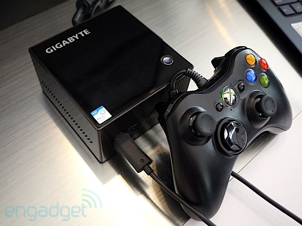 Gigabyte shows off tiny BRIX gaming PC with Haswell and Iris Pro graphics handson