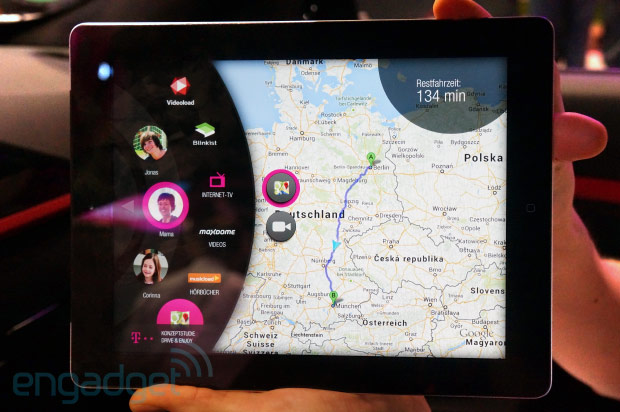 Deutsche Telekom's LTE Connected Car delivers streaming media with complete control handson video