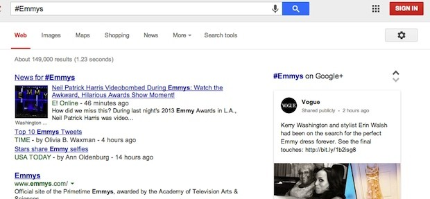 Google Search adds support for hashtags, pulls related info from Google