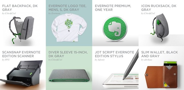 Evernote expands with inexperienced product path scanners, PostIts, wallets and socks