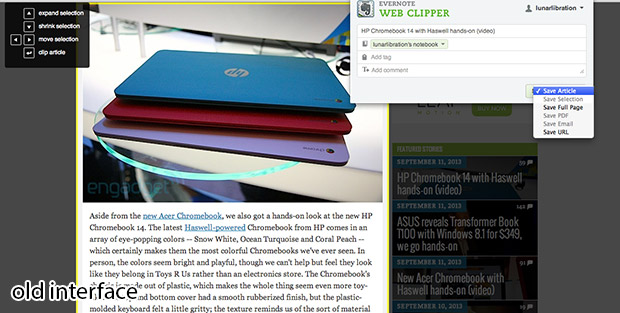 DNP Evernote's Chrome Web Clipper adds new options, sharing and Skitch features