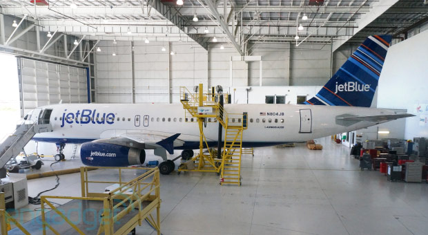 Inside JetBlue's FlyFi speedy satellite internetequipped A320, a LiveTV adventure video