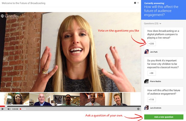 Google+ Hangouts get Live Q&A for those burning questions that just can't wait