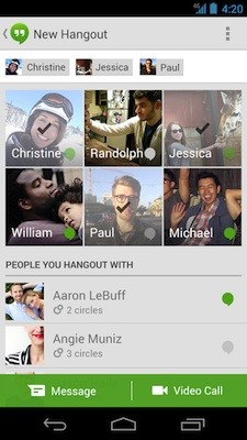Google Hangouts for Android update finally lets you know who is actually signed in