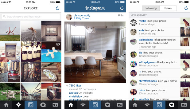 Instagram refreshed for iOS 7 with larger images and videos, available for download today