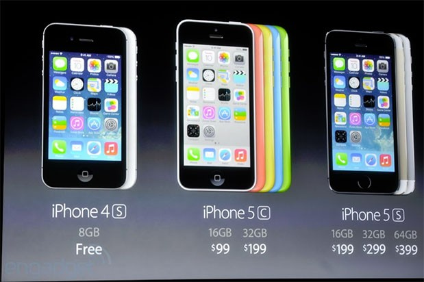iPhone 5c and 5s go on preorder September 13th starting at $99, $199 on a twoyear contract