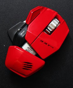 IRL Mad Catz Rat M gaming mouse and TK