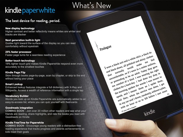 Amazon posts details of new Kindle Paperwhite