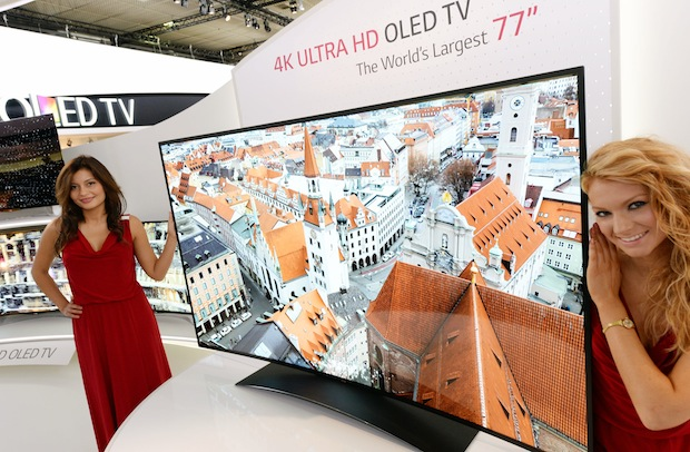 LG's 77inch Ultra HD curved OLED TV is the biggest, with the most buzzwords