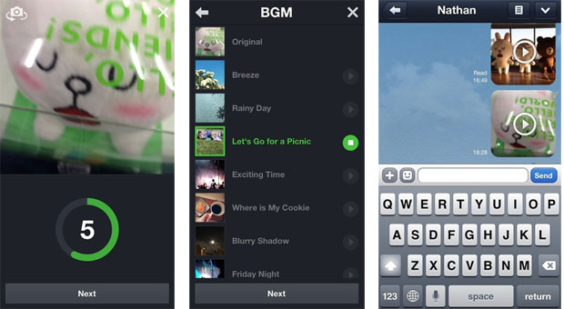 Line messaging app update adds distinctly Vineish Snap Movie feature