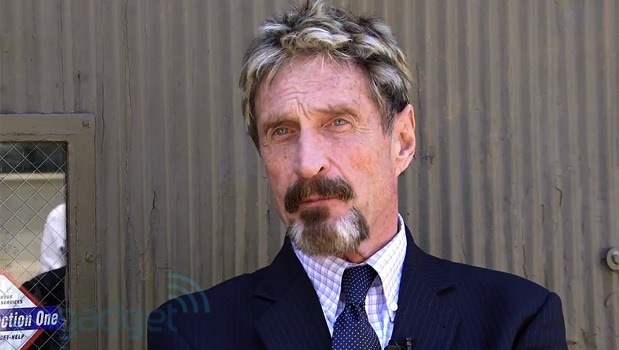 John McAfee wants to NSA-proof the internet with a device called Decentral - mcafee