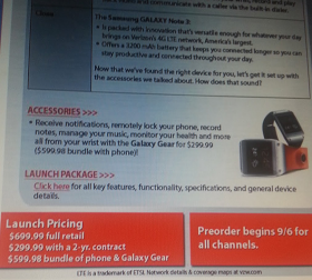 Leaked Verizon doc prices Galaxy Note 3 at $699 retail price, $299 with contract, $599 if you take the watch