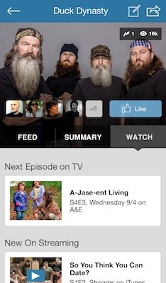 GetGlue for iPhone's new guide includes streaming video sources,