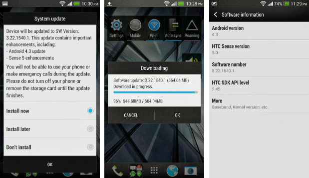 Global HTC One devices get Android 43 update, improved lowlight camera performance