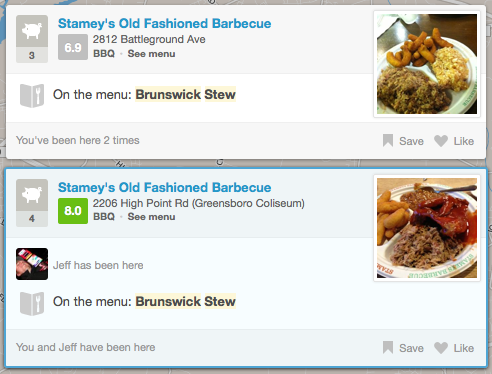 Foursquare adds menu search to checkin spots, eases quest for ramen and dumplings