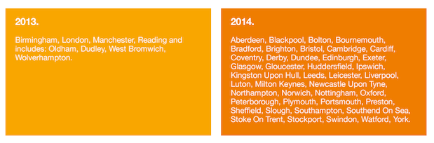 Three's LTE rollout to reach 42 more UK cities in 2014